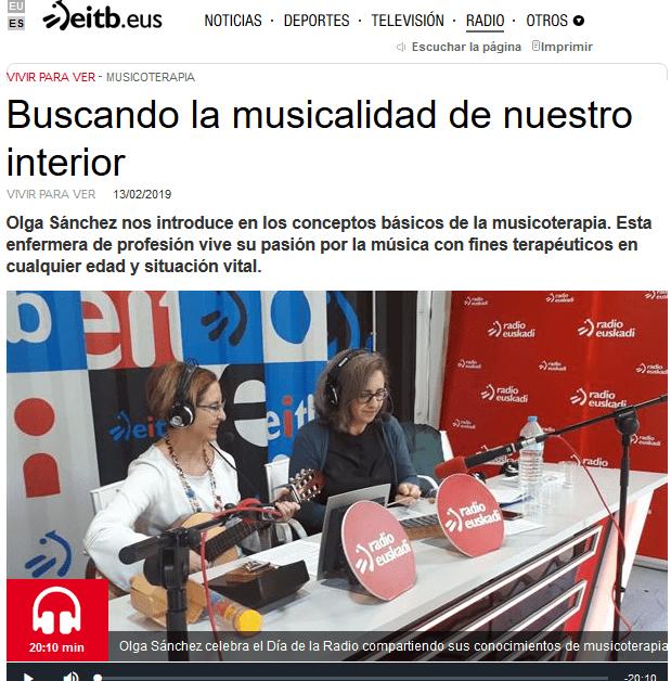 Artículo-Entrevista Radio Euskadi1